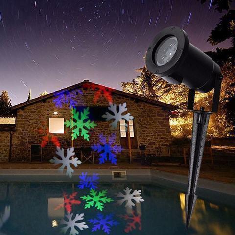 Светодиодный проектор Снежинка