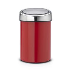 Мусорный бак Brabantia Touch Bin (3л), Пламенно-красный
