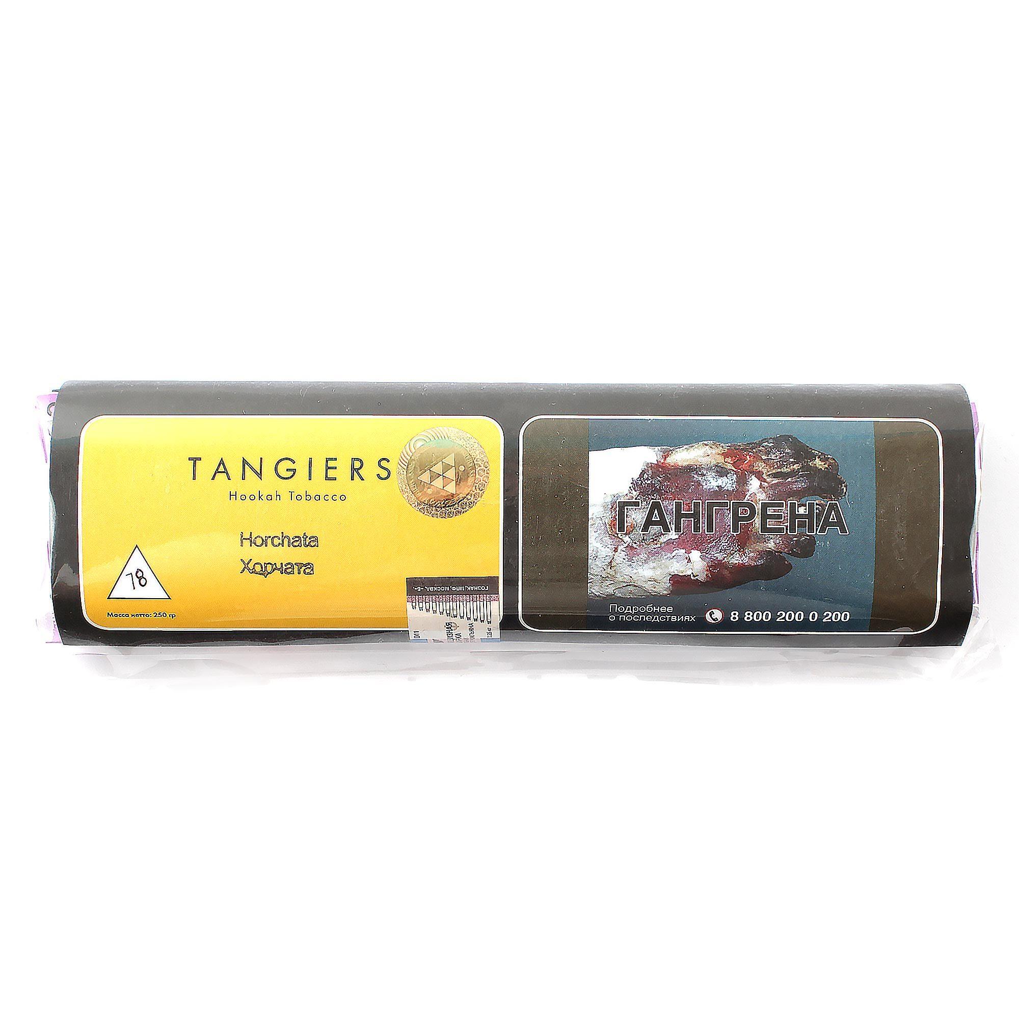 Табак для кальяна Tangiers Noir (желтый) 78 Horchata 250 гр