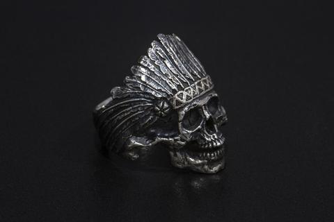 Перстень «Череп индеец», с нижней челюстью