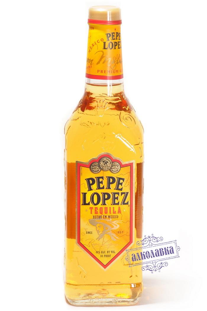 Текила Пепе Лопес Голд 0,75л 40%