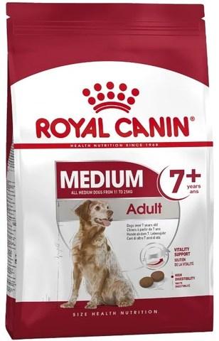 Royal Canin Medium Adult 7+ корм для собак средних пород от 7 до 10 лет, 15 кг