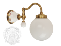 Светильник настенный плафон шар, матовое стекло Migliore Provance ML.PRO-60.530 керамика с декором
