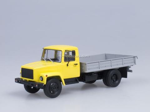 GAZ-33073 Taxi board truck engine ZMZ-513 yellow 1:43 AutoHistory
