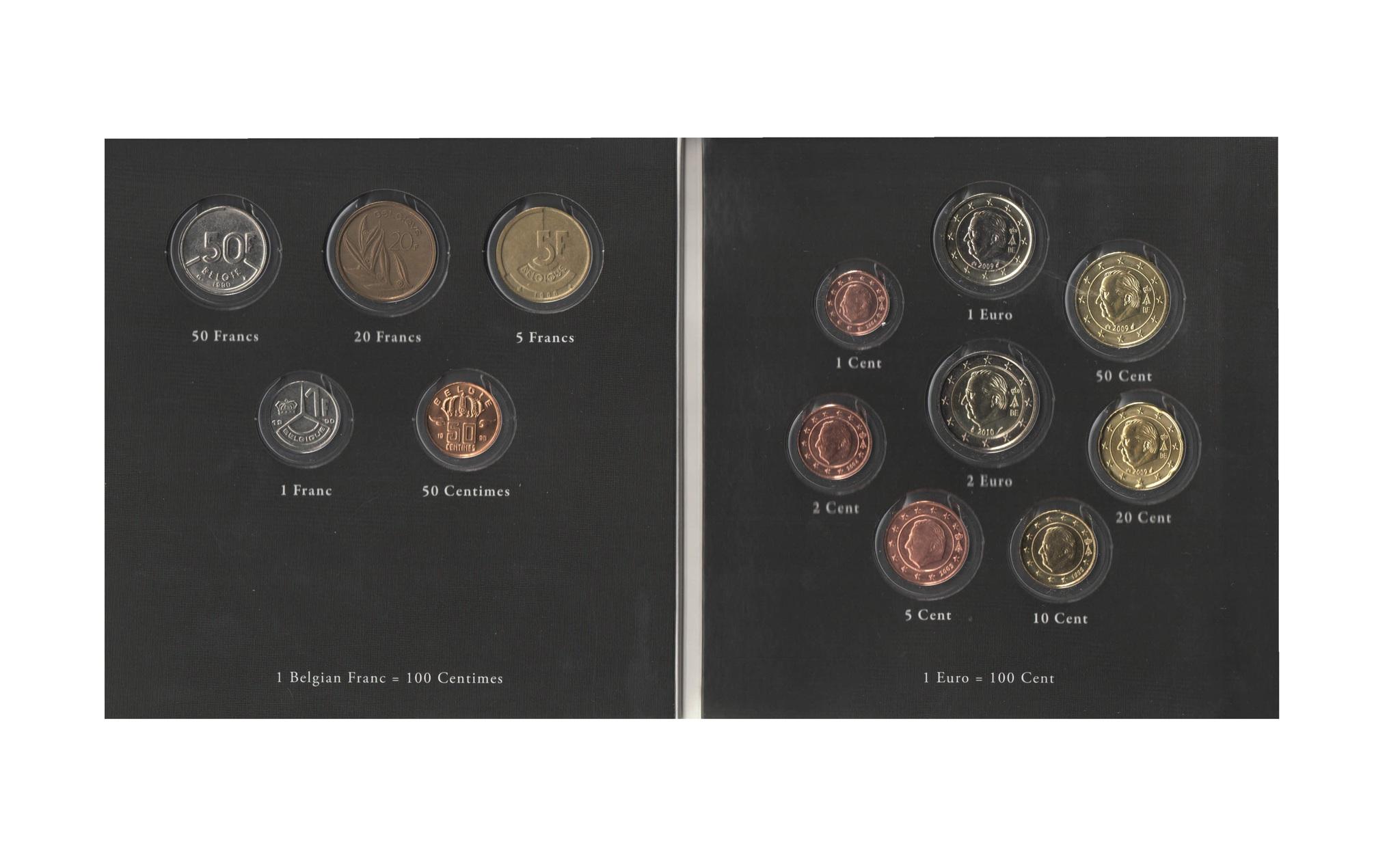 Набор монет 20 лет Евросоюзу. Бельгия