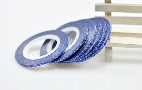 Лента самоклеющаяся синий глиттер 2мм