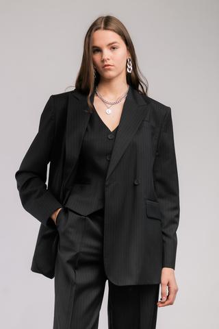 Двубортный пиджак из шерсти