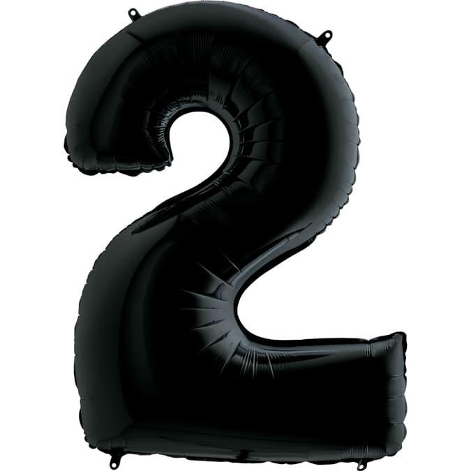 Фольгированный шар 2, черный