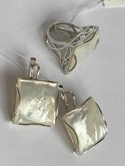 Градэ  (кольцо + серьги из серебра)