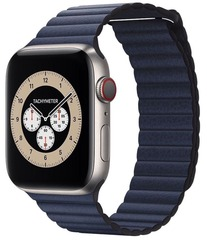 Умные часы Apple Watch Edition Series 6 GPS + Cellular 44mm Titanium Case with Diver Blue Leather Loop