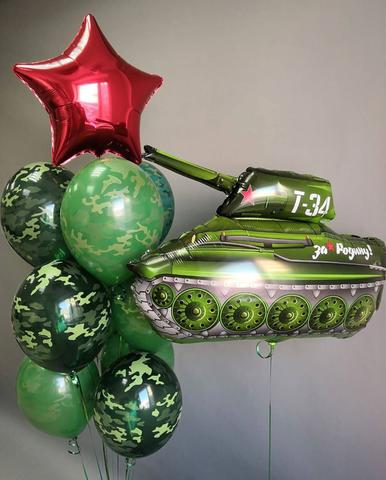 Набор зеленый танк