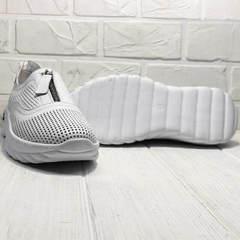 Модные кроссовки на толстой подошве женские Wollen P029-259-02 All White.