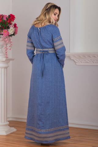 Платье русское народное Льняной дождь купить