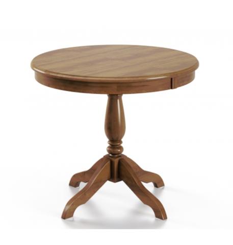 Стол обеденный Медведь деревянный круглый дуб