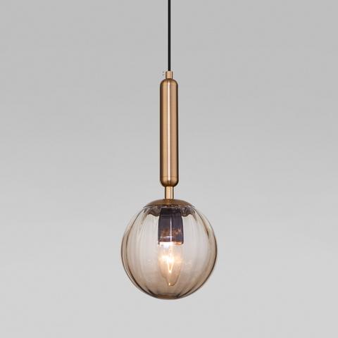 Подвесной светильник со стеклянным плафоном 50208/1 янтарный