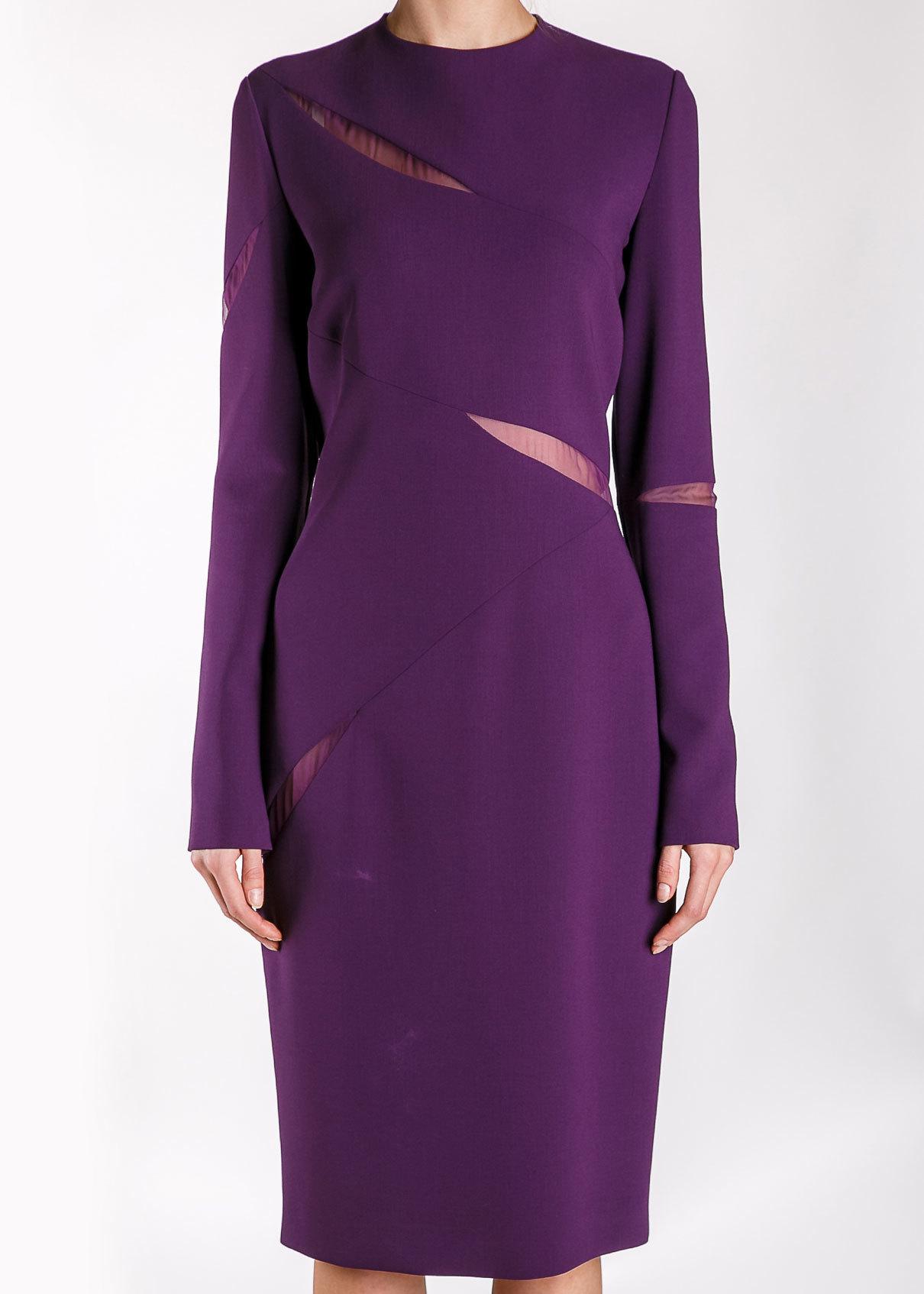 Платье из шерсти и шелка EMILIO PUCCI