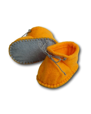 Ботиночки из фетра - Оранжевый. Одежда для кукол, пупсов и мягких игрушек.