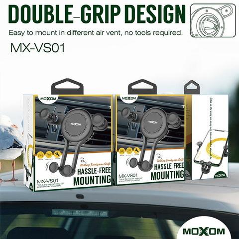 Автодержатель Moxom VS01 Air, зажимной, white