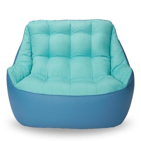 Бескаркасный диван «Босс», Синий и голубой