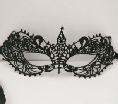 Кружевная черная маска  Загадка ночи