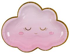 Тарелки фигурные, Детские грезы, Облако розовое, 26 см, 6 шт, 1 уп.