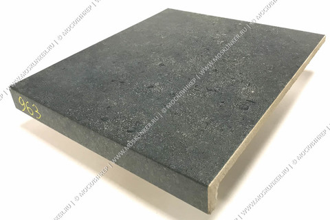 Stroeher - Gravel Blend 963 black 294х340х35х11 артикул 9430 - Клинкерная ступень прямоугольная рядовая Loftstufe