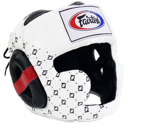 Шлем Fairtex Headguard Super Sparring HG10 White