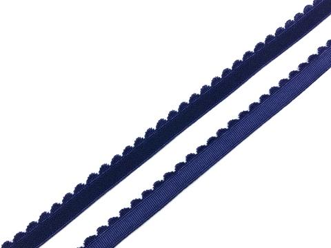 Резинка отделочная темно-синяя 12 мм (цв. 061)