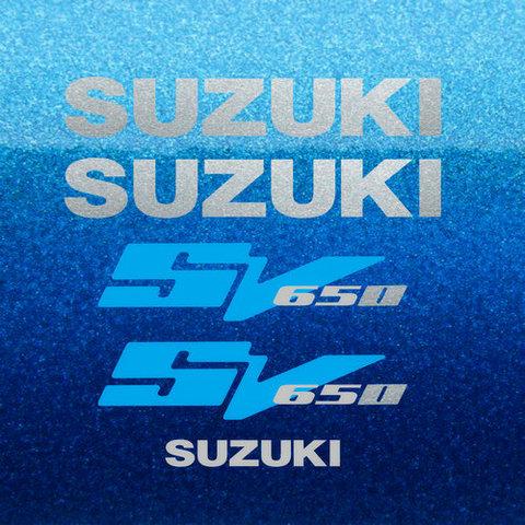 Набор виниловых наклеек на мотоцикл SUZUKI SV 650 2003