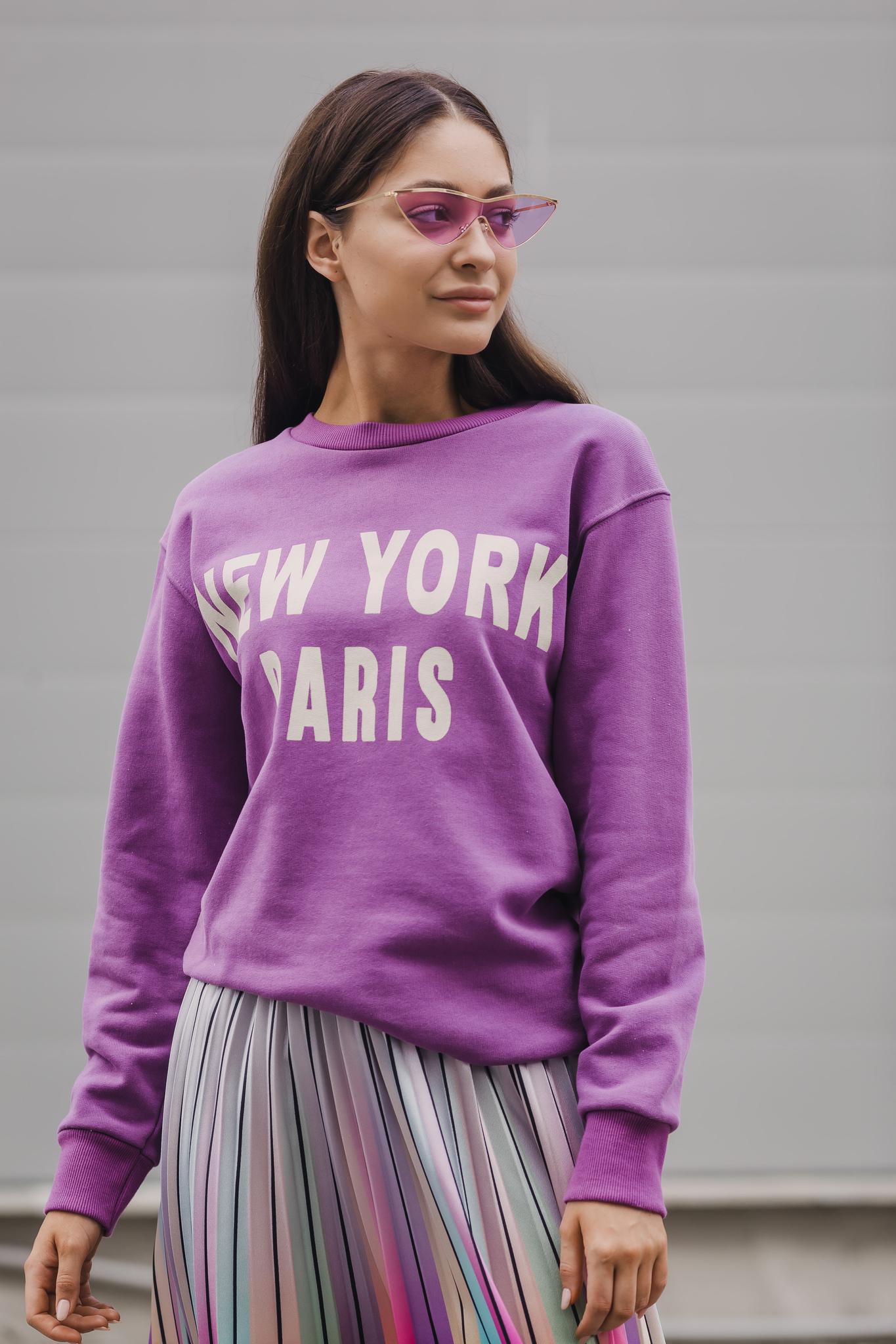 Свитшот NEW YORK PARIS