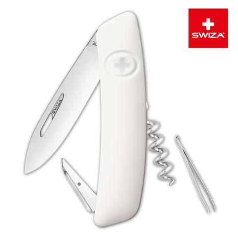 Швейцарский нож Swiza  (KNI.0010.1020) D01 Standard 95 мм 6 функций белый
