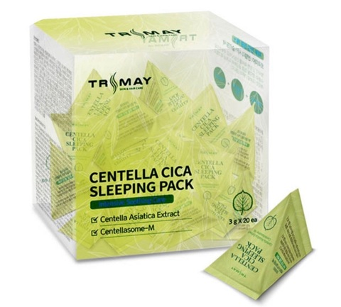 Trimay Centella Cica Sleeping Pack ночная маска для лица с центеллой