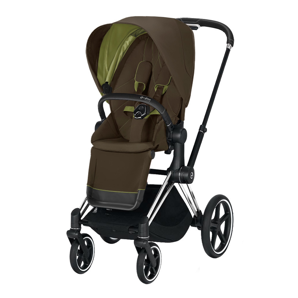 Прогулочная коляска Cybex Priam III 2020 Прогулочная коляска Cybex Priam III Khaki Green Chrome Black cybex-priam-pushchair_khaki-green_chrome-black.jpg