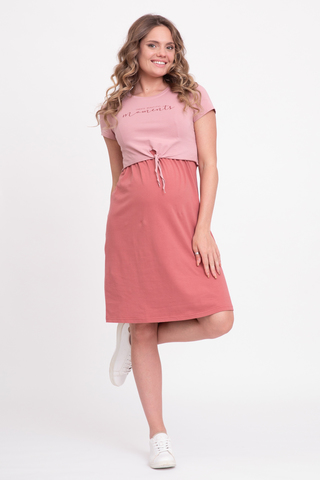 Платье для беременных и кормящих 12515 кедр