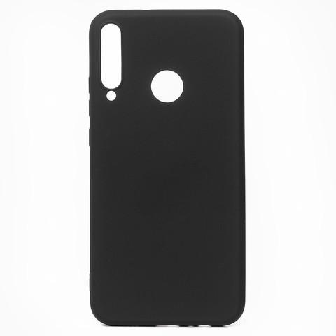 Чехол для Huawei Honor 9С/P40 Lite E Софт тач мягкий эффект   микрофибра черный