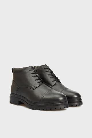 Мужские черные кожаные ботинки Aksel PRPY