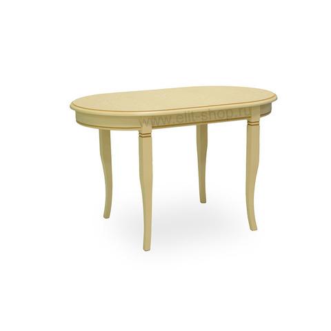 Стол БРУНО 120/75-ОВШ Крем с коричневой патиной / 120(170)х75см