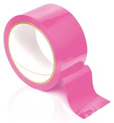 Розовая самоклеющаяся лента для связывания Pleasure Tape - 10,6 м.