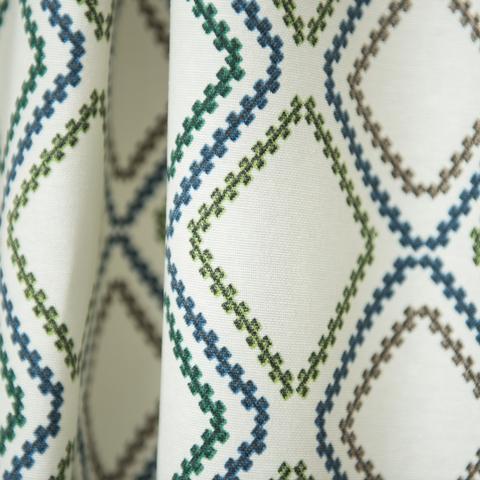 Римская штора из хлопка Мистик голубой