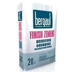 Шпаклёвка Bergauf Finish Zement цементная финишная, 20 кг