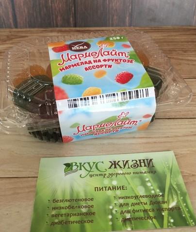 Мармелад Мармелайт на фрукт Нева Ассорти 250г