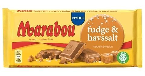 Marabou fudge havssalt 185 гр