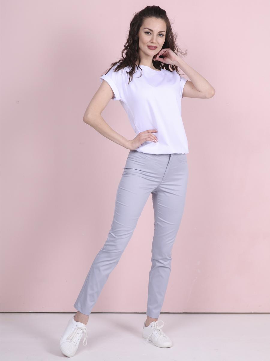 Медицинские джинсы Б-118 цвет светло серый