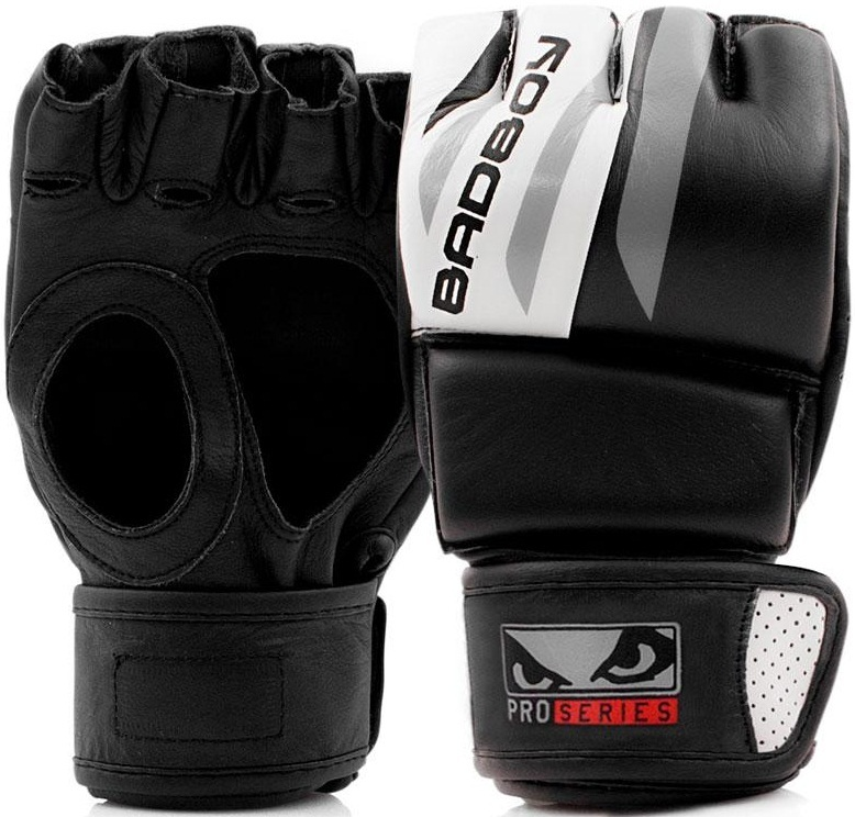 ММА перчатки Перчатки для ММА Bad Boy Pro Series Advanced MMA Gloves-Black/White 1.jpg