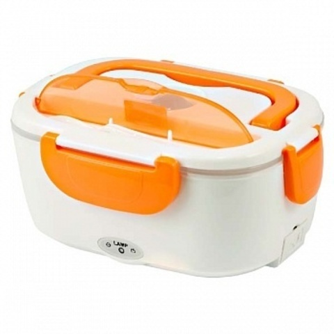 Электрический ланч-бокс с подогревом оранжевый