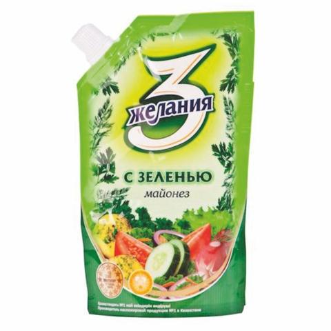 Майонез 3 ЖЕЛАНИЯ С зеленью 380 гр КАЗАХСТАН