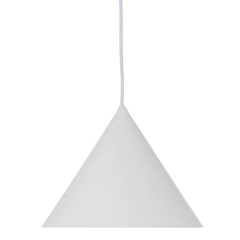 Лампа подвесная Benjamin XL, белая матовая, белый шнур