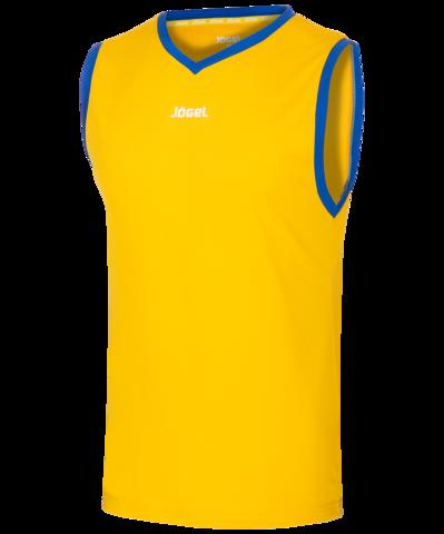 Майка баскетбольная JBT-1020-TEE-047, желтый/синий