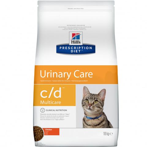 Корм для кошек Hill's c/d  Prescription Diet для профилактики МКБ, с курицей 10 кг