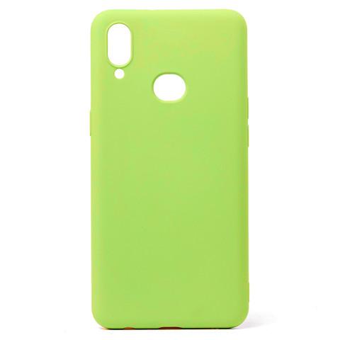 Чехол для Samsung (A107) Galaxy A10s Софт тач мягкий эффект | микрофибра светло-зеленый